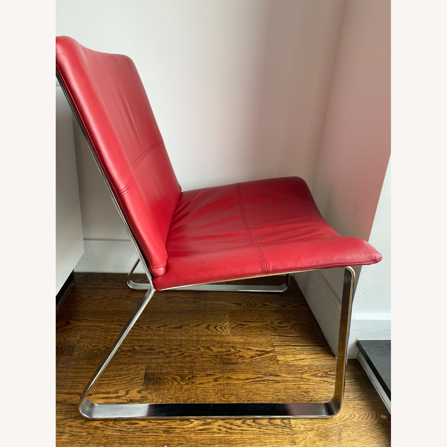 BoConcept Modern Leather Chair Red - image-7