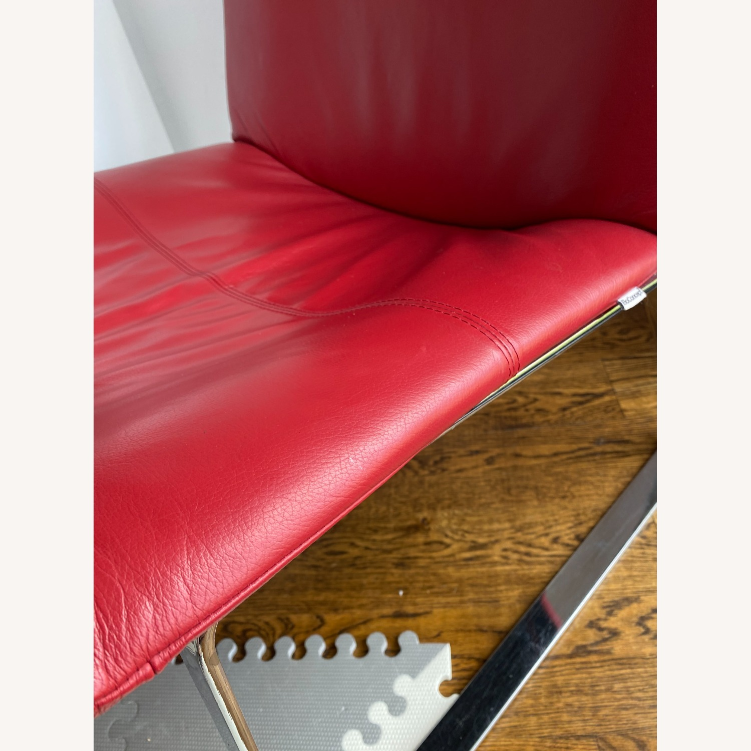 BoConcept Modern Leather Chair Red - image-3
