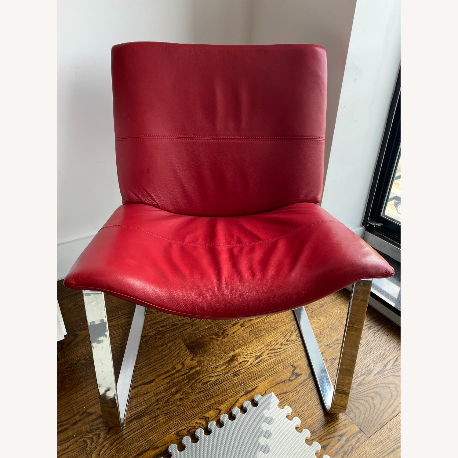 BoConcept Modern Leather Chair Red - image-1