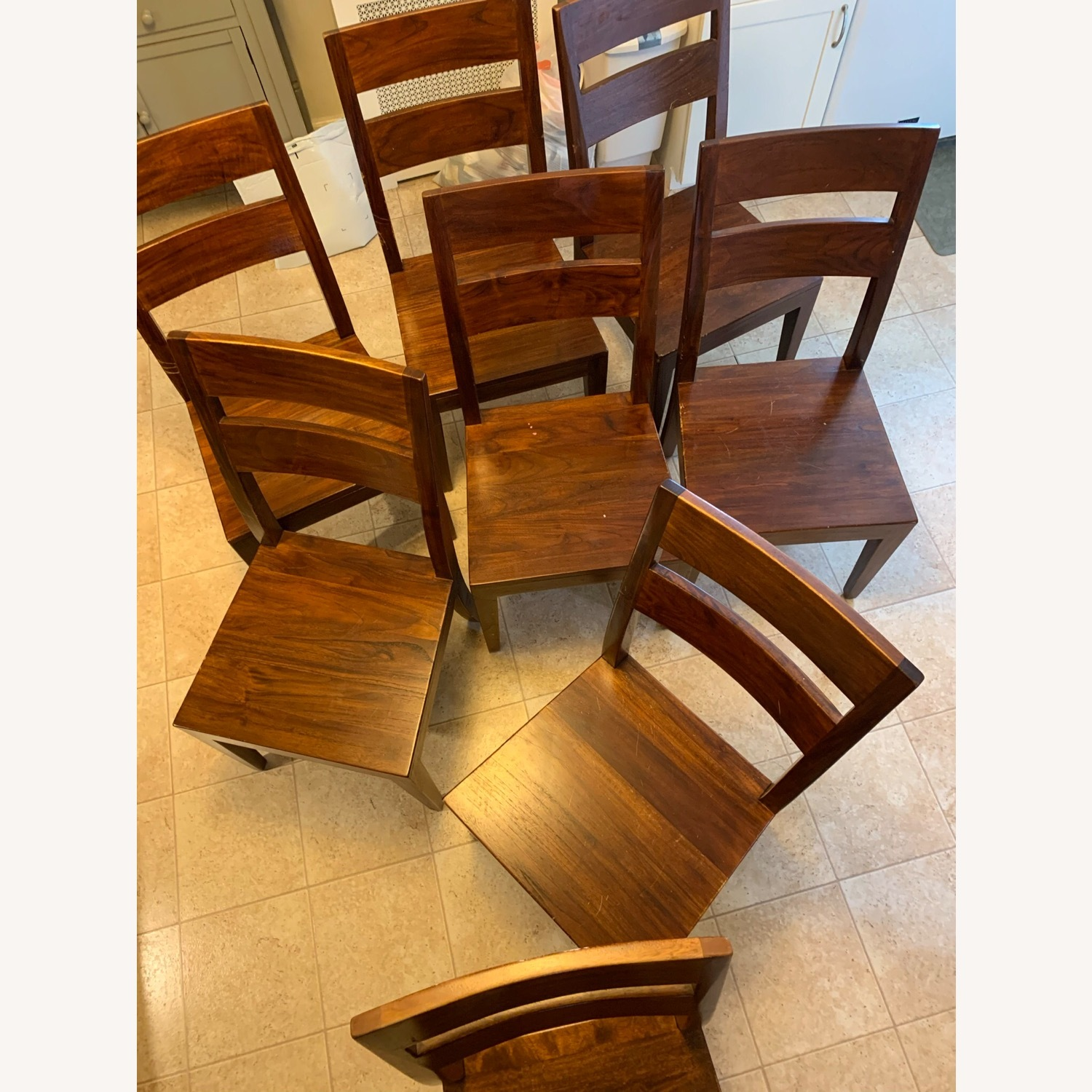 Crate and Barrel Basque Dining Table and 8 Chairs - image-4