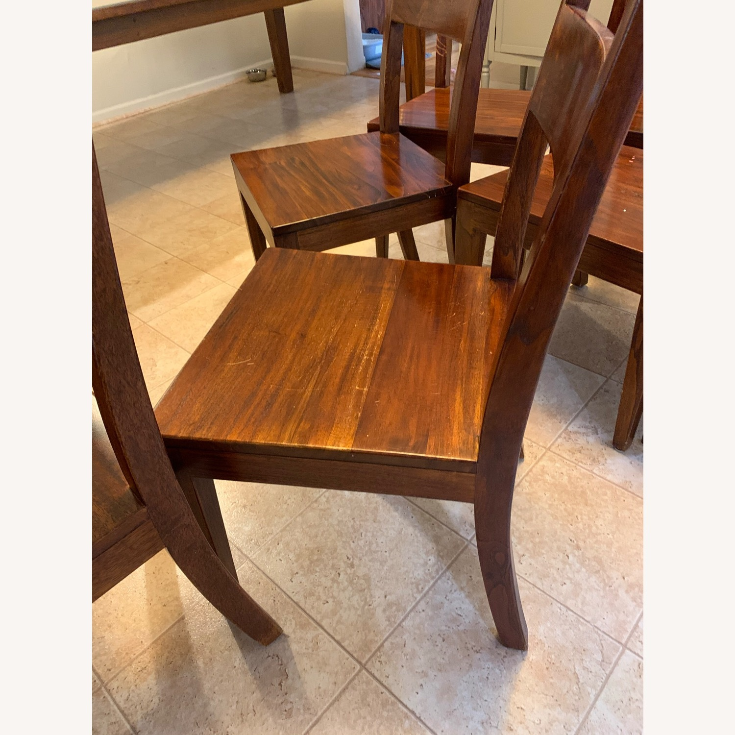 Crate and Barrel Basque Dining Table and 8 Chairs - image-5