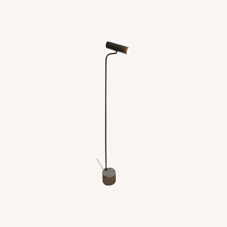 Linea Italia Minimalist Marble & Stainless Steel Floor Lamp - image-0