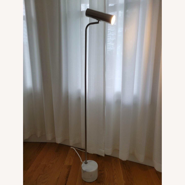 Linea Italia Minimalist Marble & Stainless Steel Floor Lamp - image-1