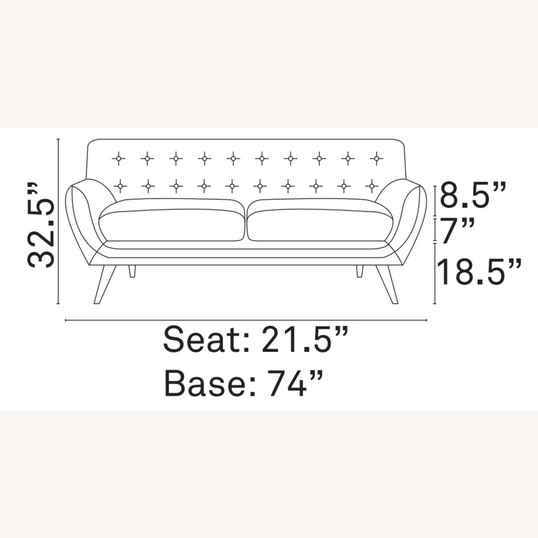 Modern Sofa In Azure Plush Dual Cushion - image-4