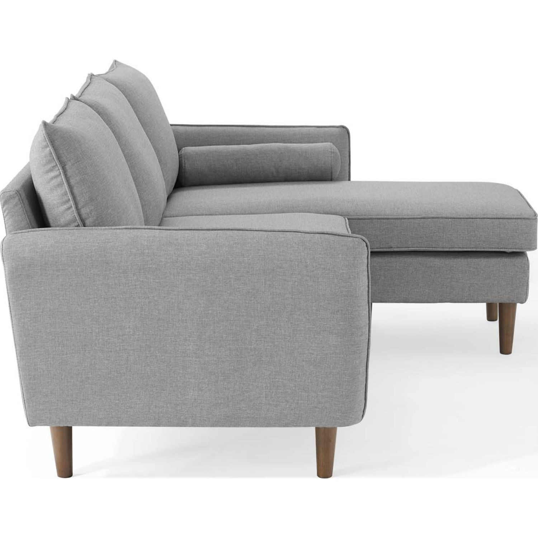 Sectional Sofa In Light Gray W/ Dense Foam Padding - image-1