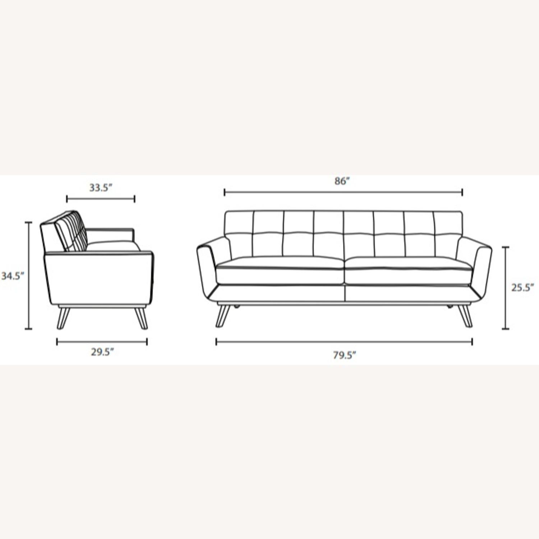 Modern Lounge Sofa In Tan Leather Finish - image-7