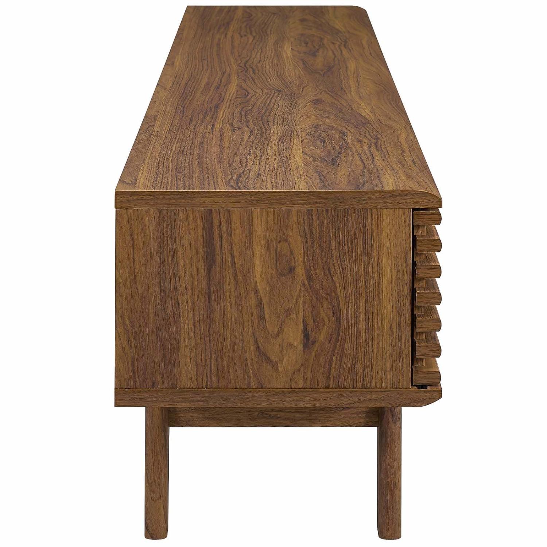 "Modern 70"" TV Stand In Walnut Grain Veneer - image-2"