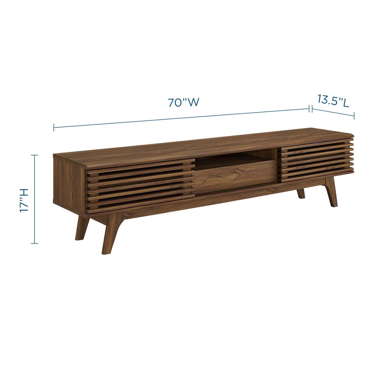 "Modern 70"" TV Stand In Walnut Grain Veneer - image-5"