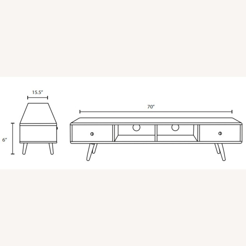 "Modern 70"" TV Stand In Walnut & White Wood Finish - image-4"