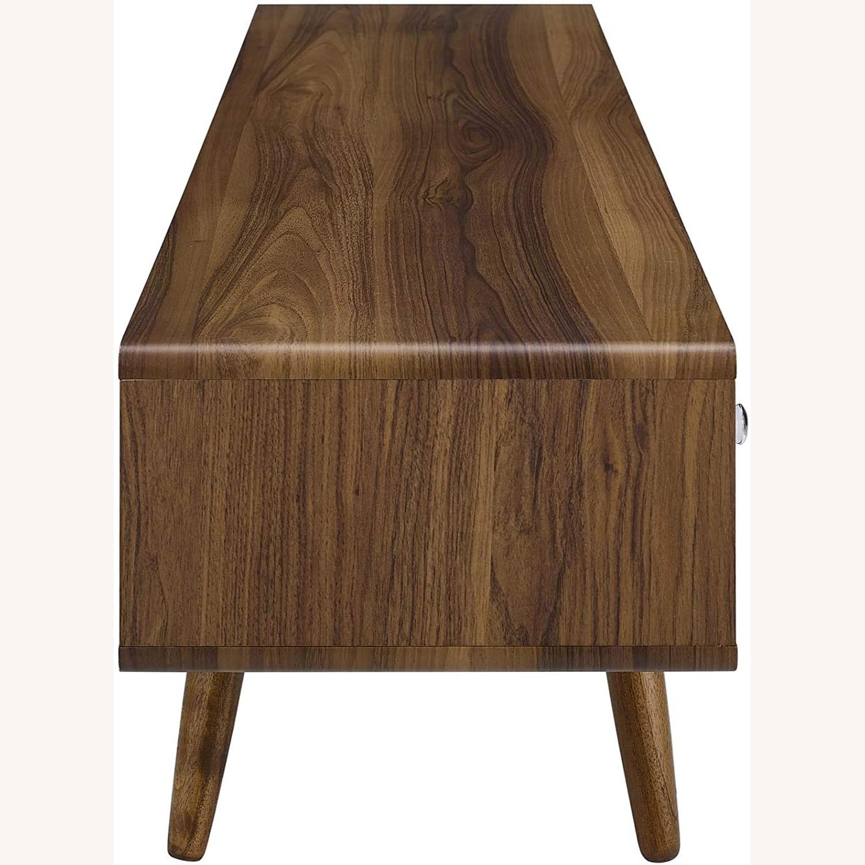 "Modern 70"" TV Stand In Walnut & White Wood Finish - image-1"