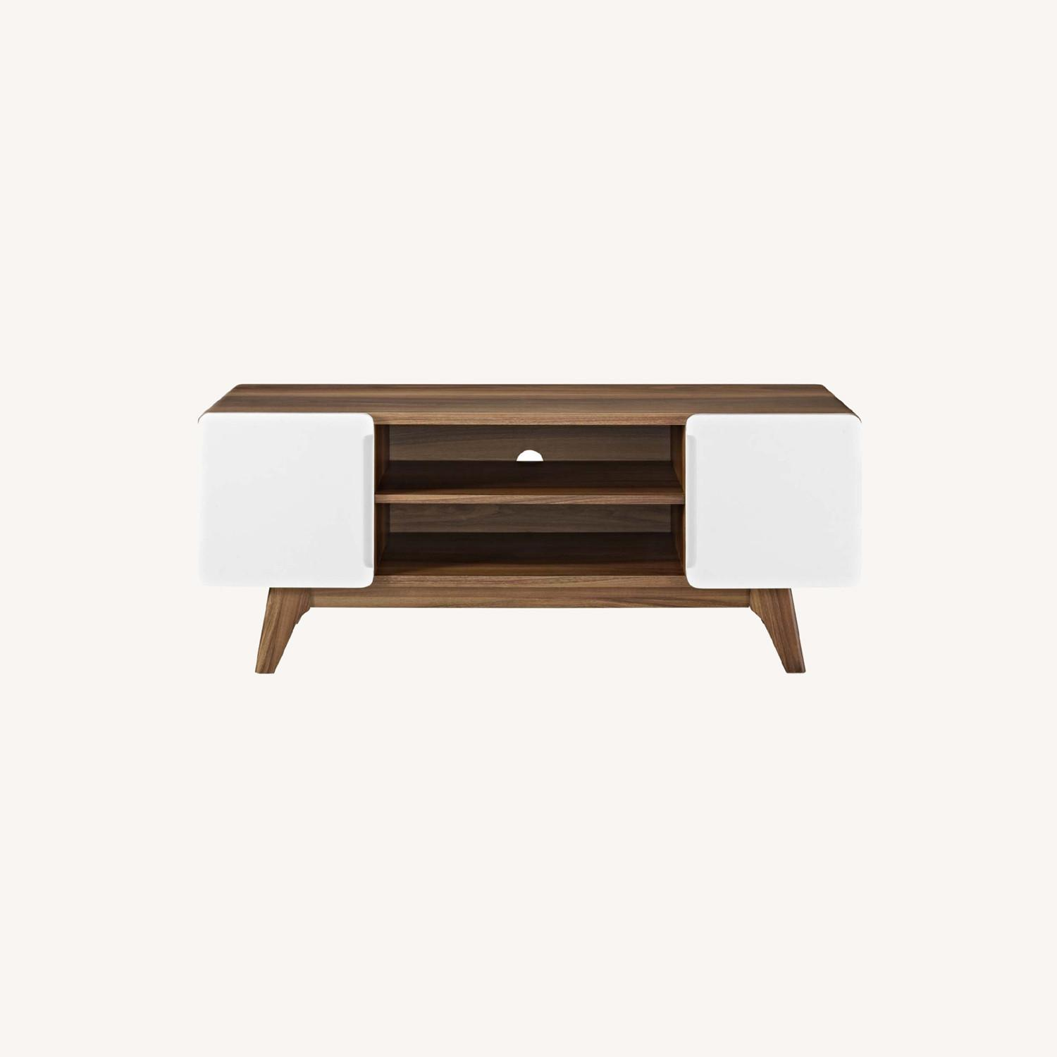 """47"""" TV Stand In Walnut & White Finish - image-5"""
