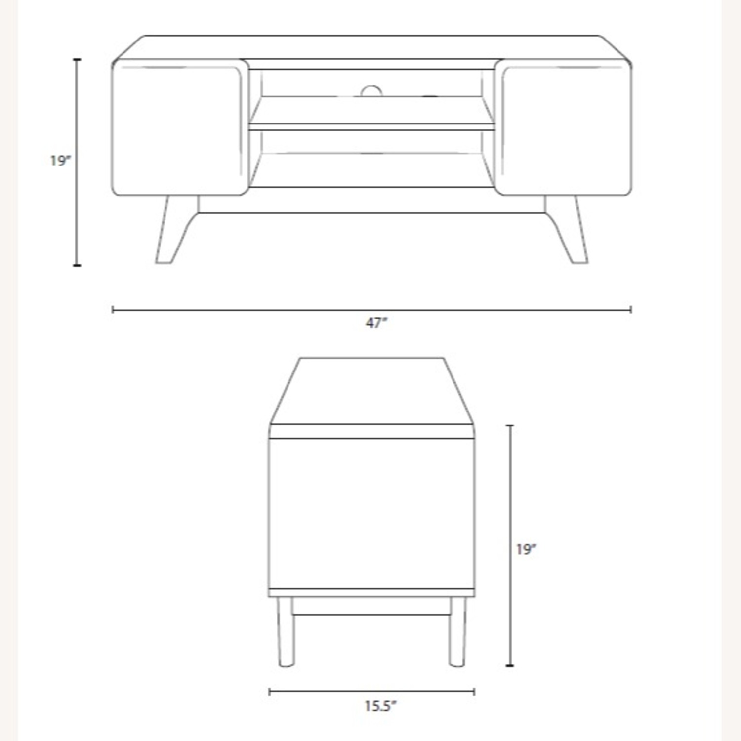 """47"""" TV Stand In Walnut & White Finish - image-4"""