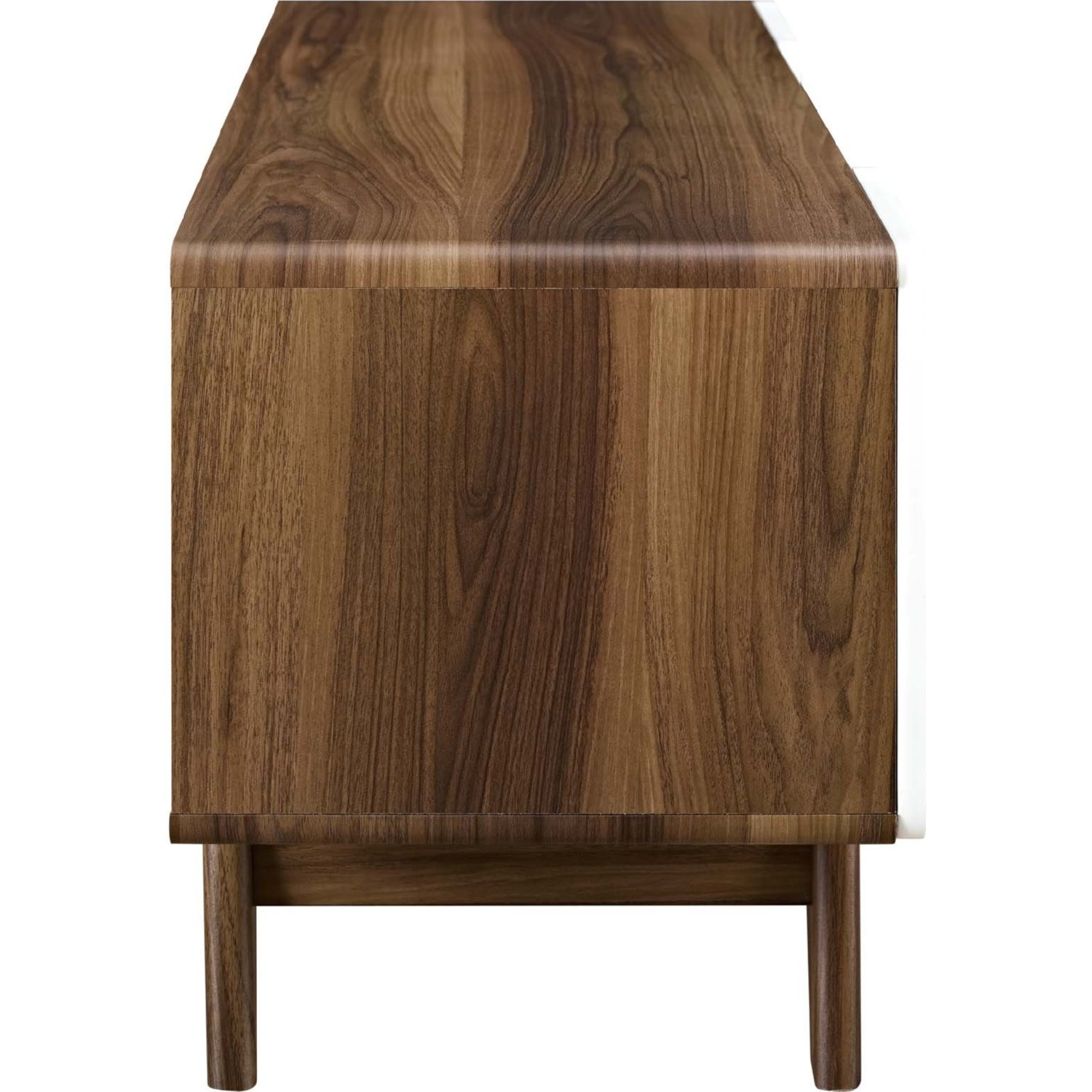 """47"""" TV Stand In Walnut & White Finish - image-2"""