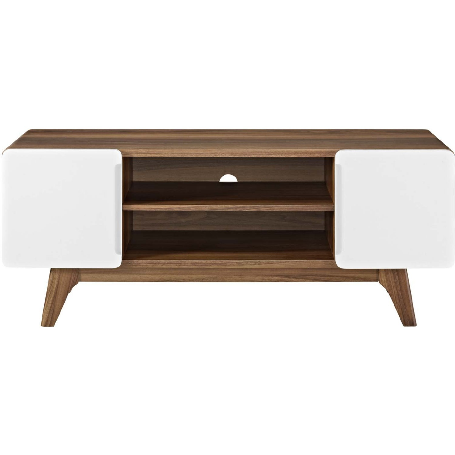 """47"""" TV Stand In Walnut & White Finish - image-1"""