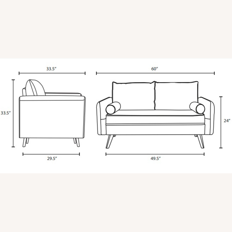 Modern Loveseat In Beige Fabric Upholstery - image-6