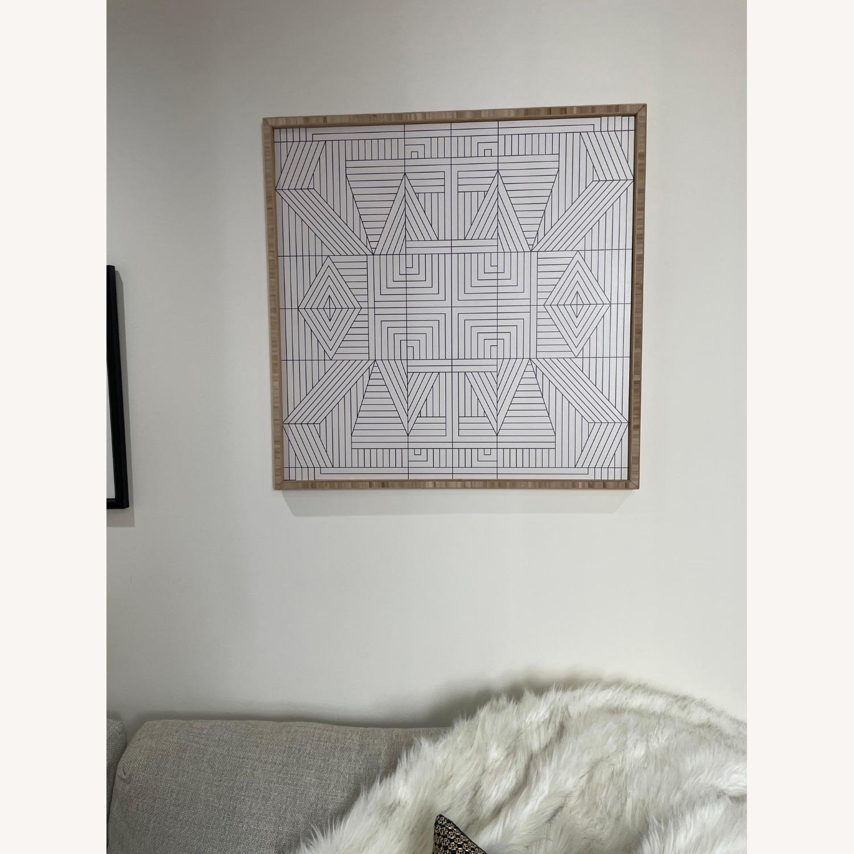 AllModern Line Mandala Framed Print - image-2