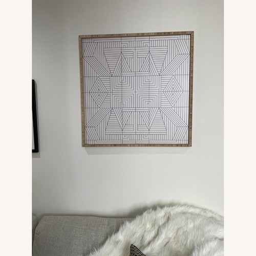 Used AllModern Line Mandala Framed Print for sale on AptDeco