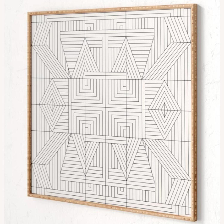 AllModern Line Mandala Framed Print - image-3