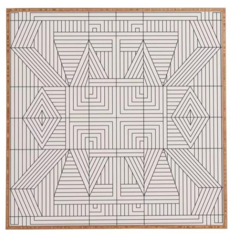 AllModern Line Mandala Framed Print - image-1