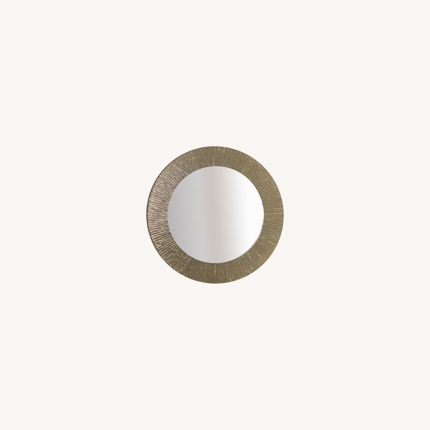 Pier 1 Mother of Pearl Round Mirror - image-0