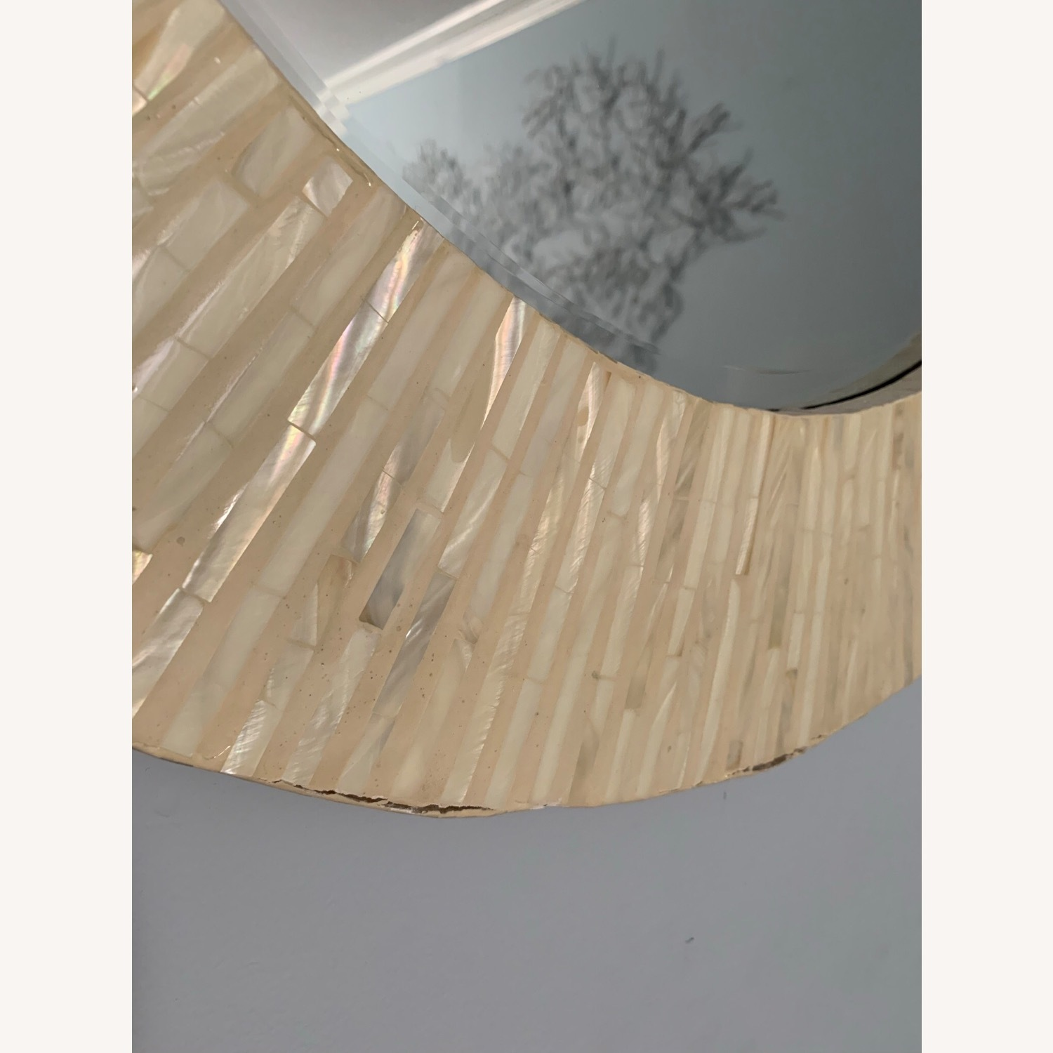 Pier 1 Mother of Pearl Round Mirror - image-4
