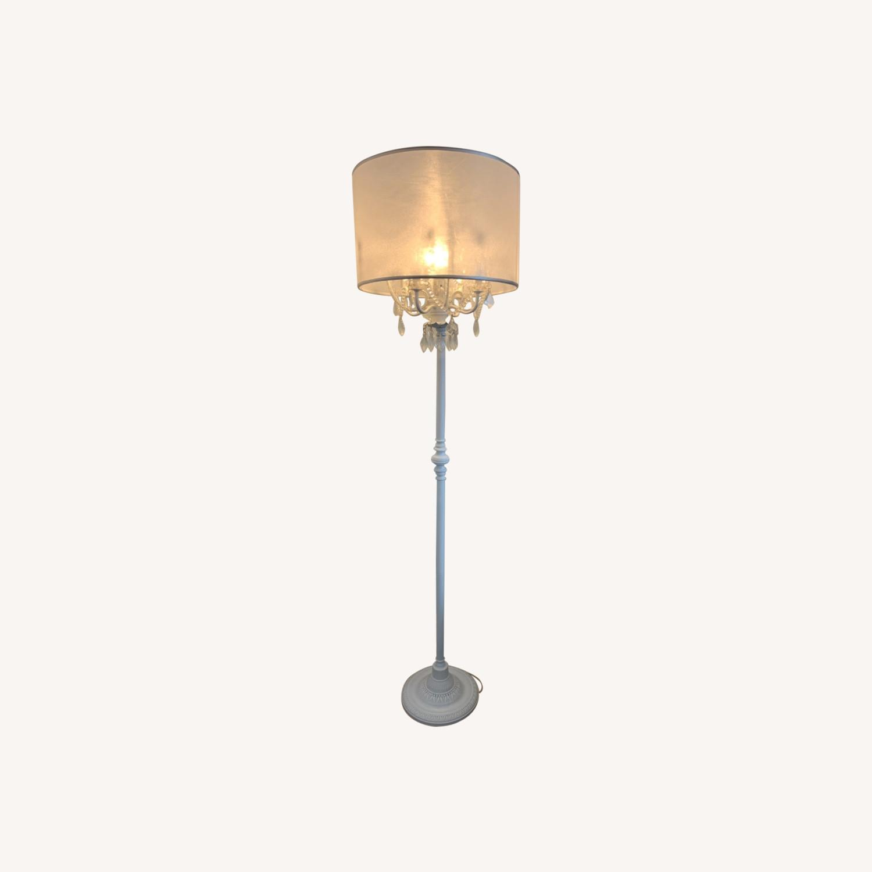 Chandelier Type White Floor Lamp - image-0