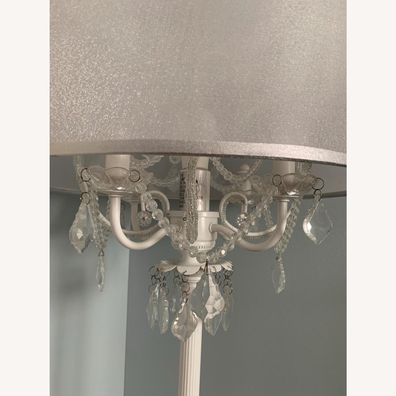 Chandelier Type White Floor Lamp - image-5
