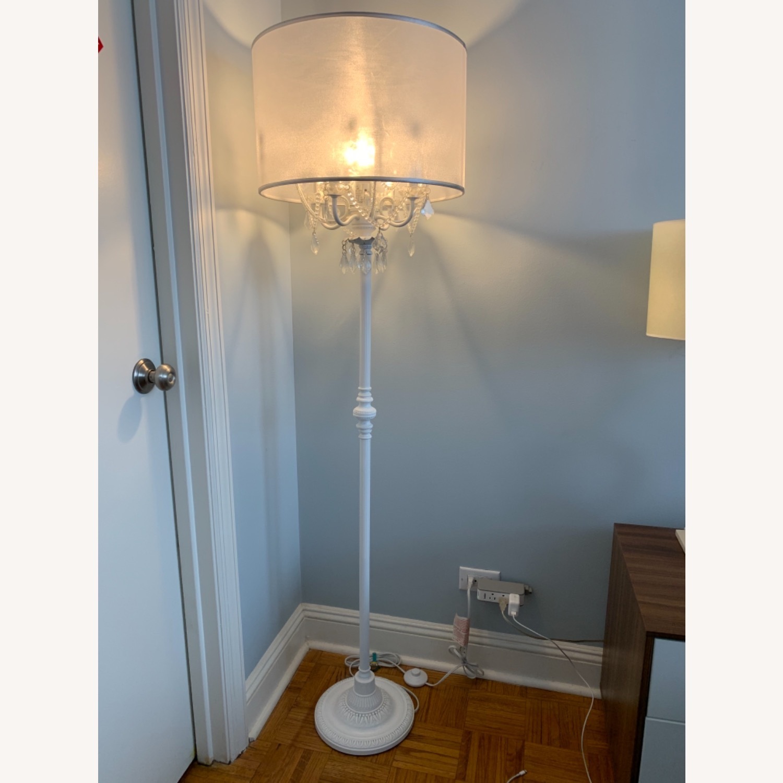 Chandelier Type White Floor Lamp - image-1