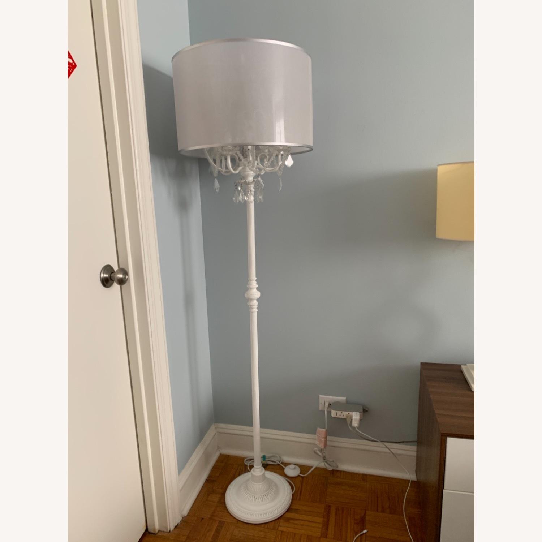 Chandelier Type White Floor Lamp - image-4