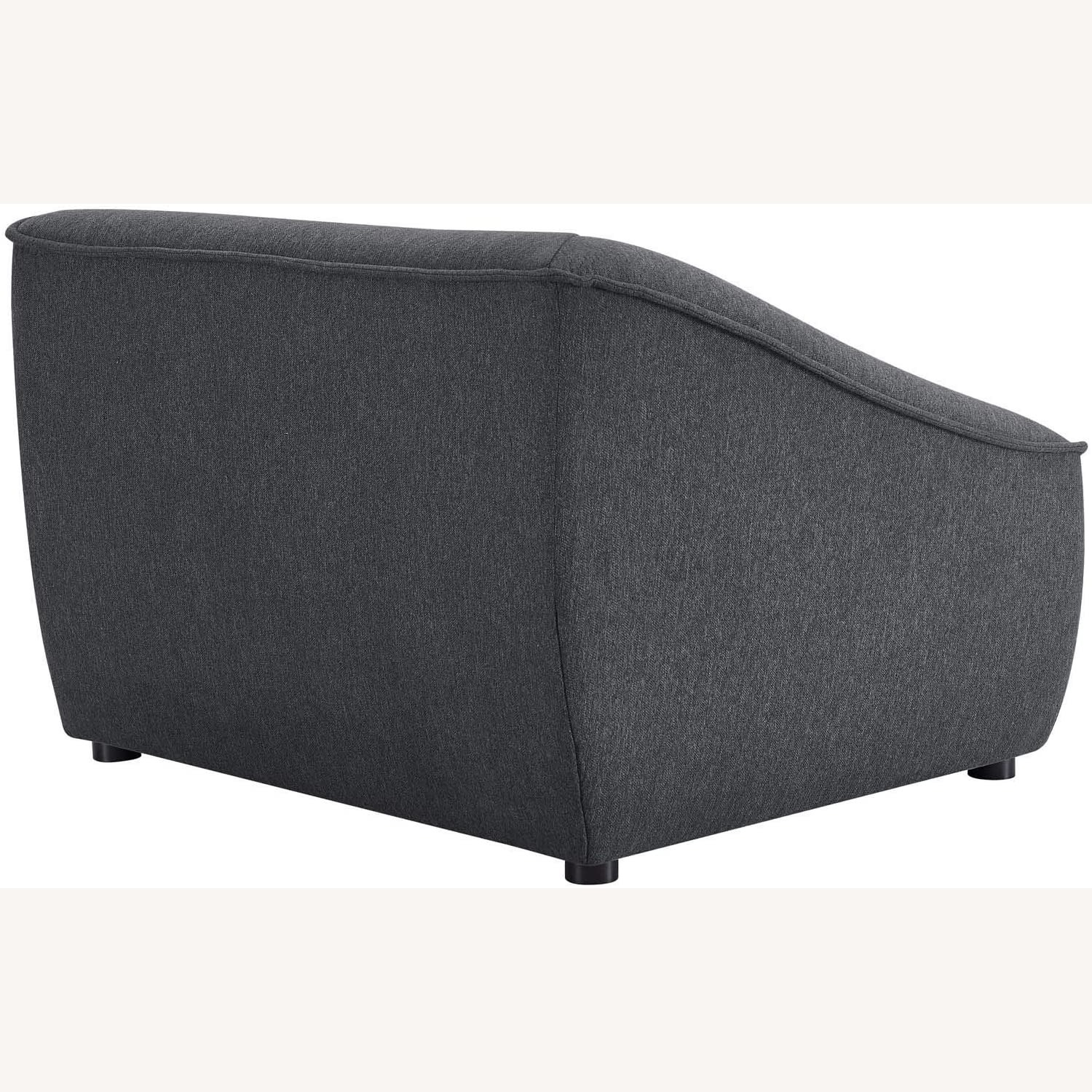 2-Piece Modern Loveseat In Charcoal Finish - image-6