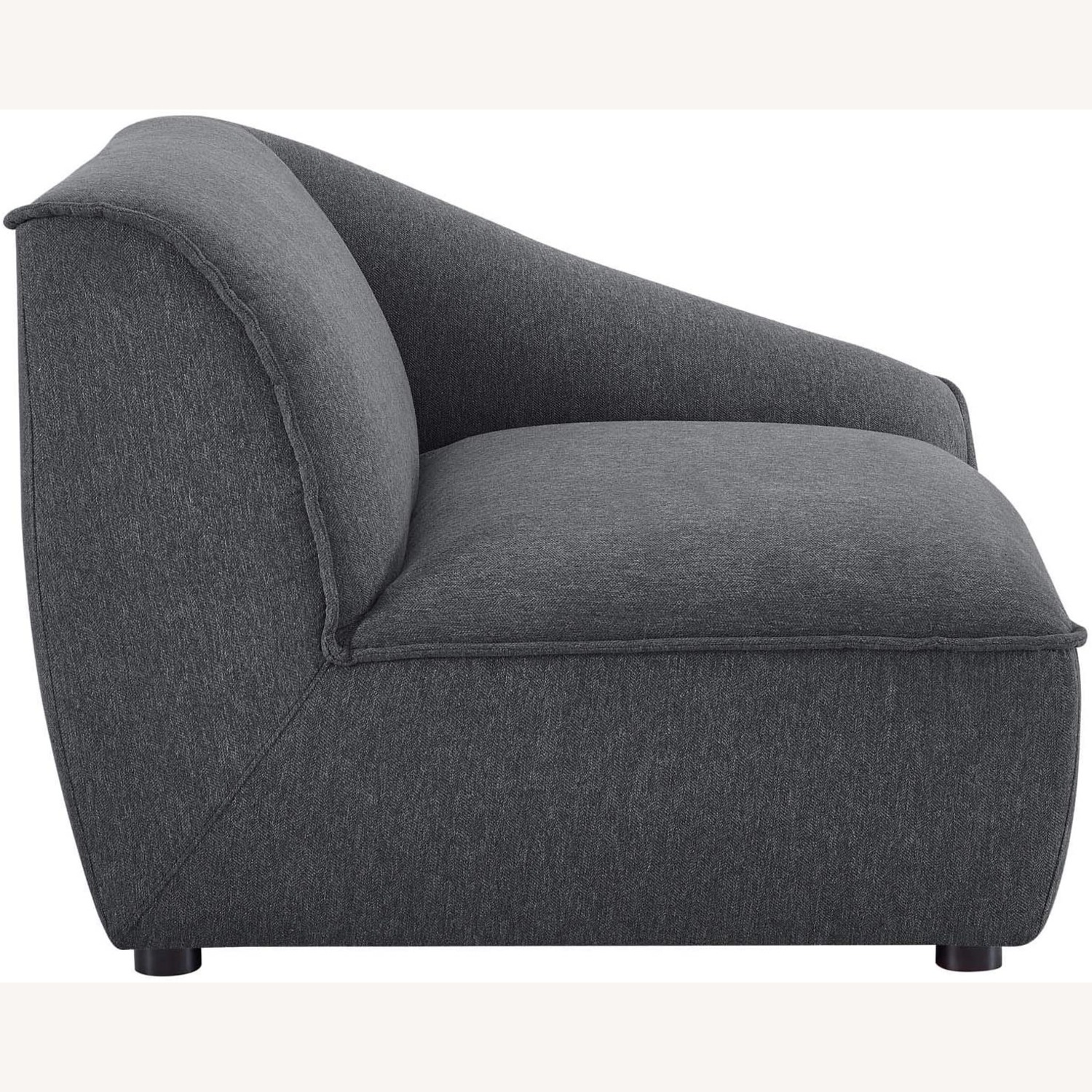 2-Piece Modern Loveseat In Charcoal Finish - image-5