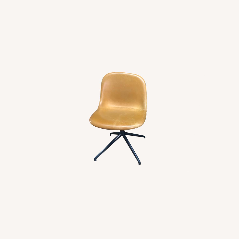 Muuto Leather Fiber Swivel Side Chair - image-0