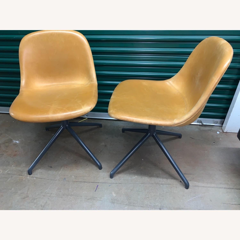 Muuto Leather Fiber Swivel Side Chair - image-1