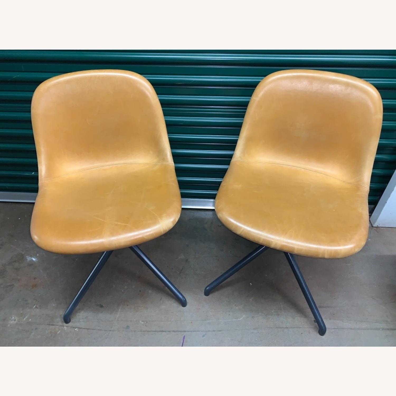 Muuto Leather Fiber Swivel Side Chair - image-3