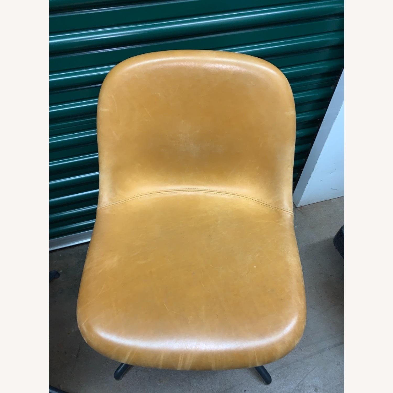 Muuto Leather Fiber Swivel Side Chair - image-2