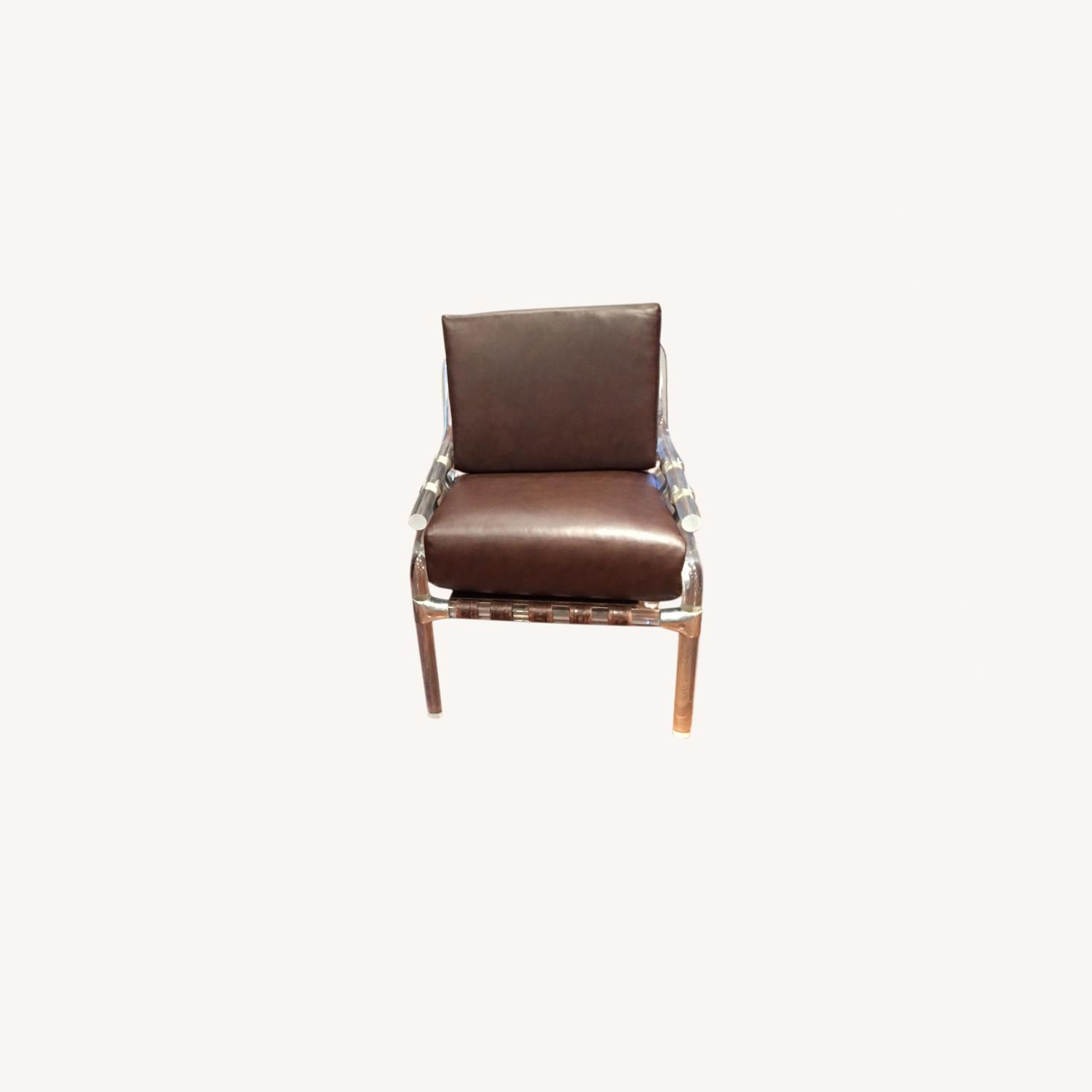 Pair of Pink Leather Jeff Messerschmidt Chairs - image-0