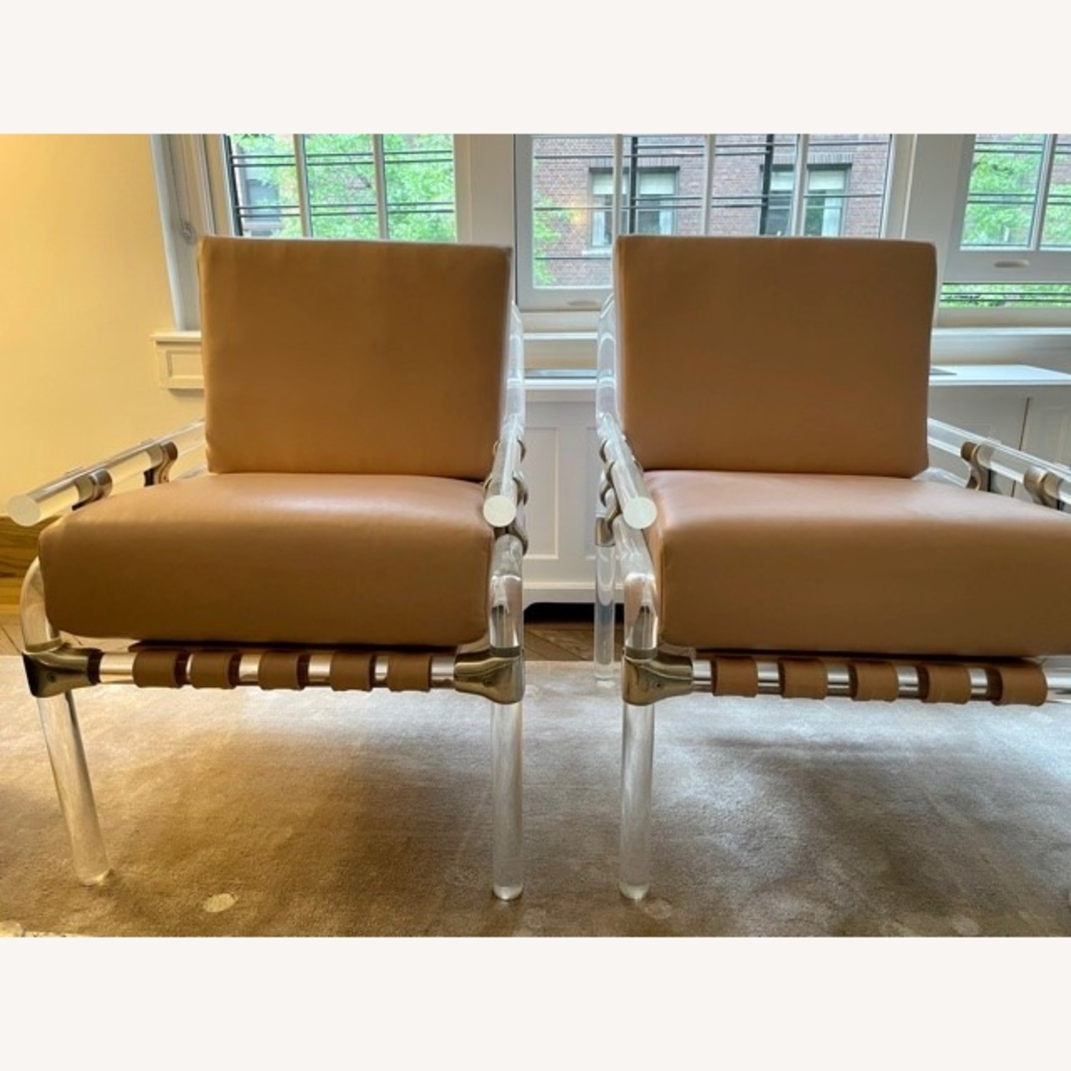 Pair of Pink Leather Jeff Messerschmidt Chairs - image-7