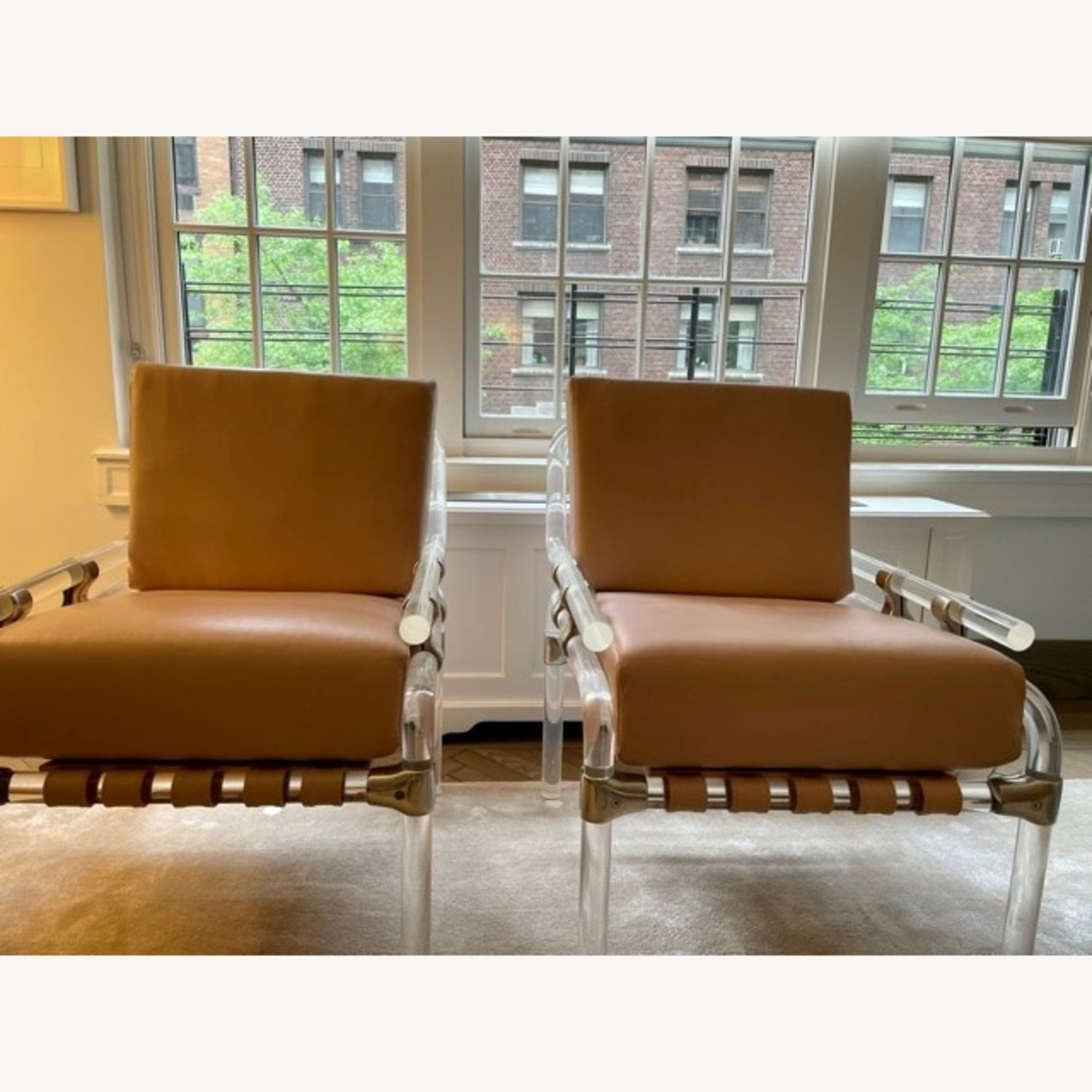Pair of Pink Leather Jeff Messerschmidt Chairs - image-8