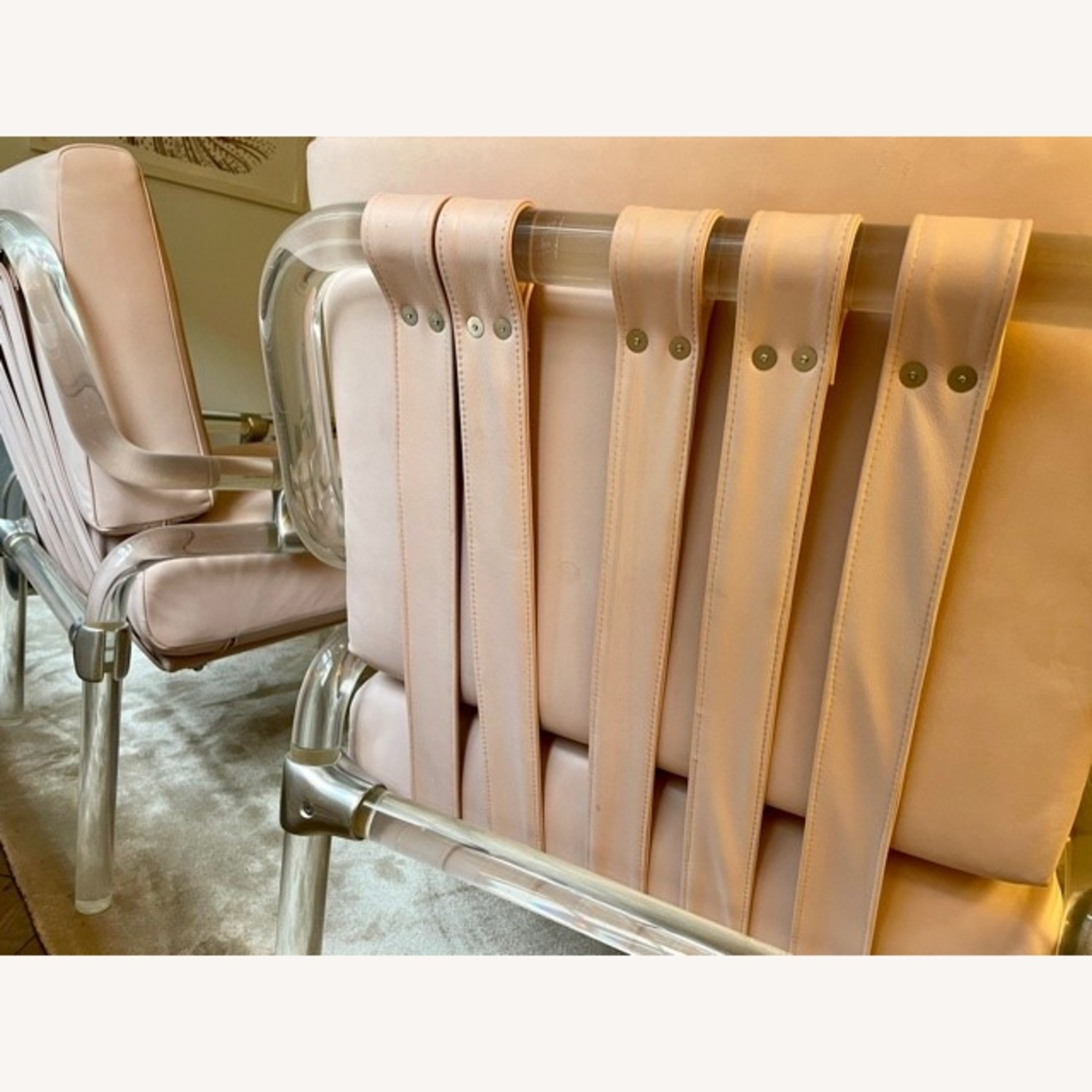 Pair of Pink Leather Jeff Messerschmidt Chairs - image-6