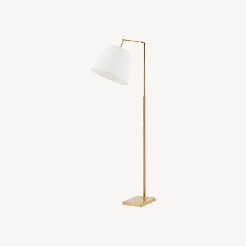 Used Martha Stewart Kenley Floor Lamp Gold/White for sale on AptDeco