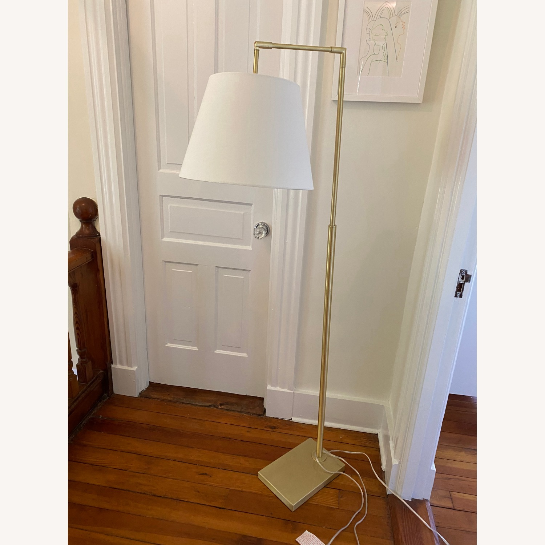 Martha Stewart Kenley Floor Lamp Gold/White - image-1
