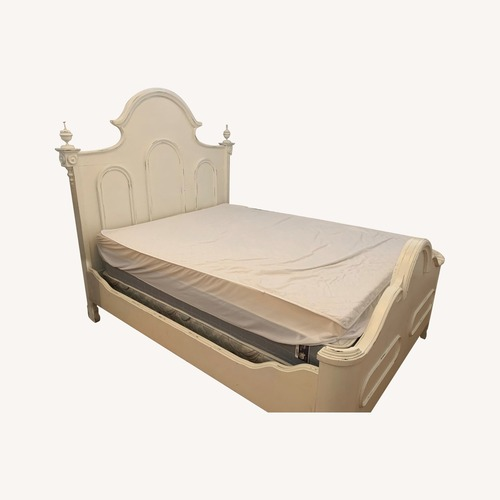 Used Lillian August White Bed for sale on AptDeco