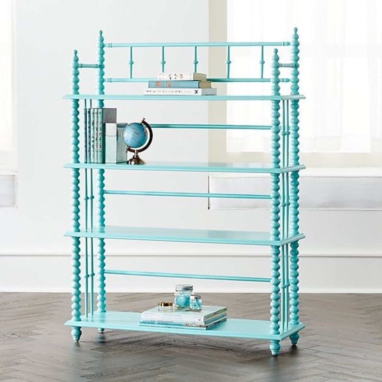 Crate & Kids Turquoise Bookcase - image-1