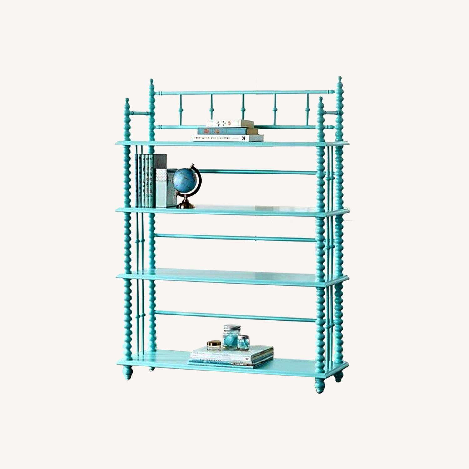 Crate & Kids Turquoise Bookcase - image-0