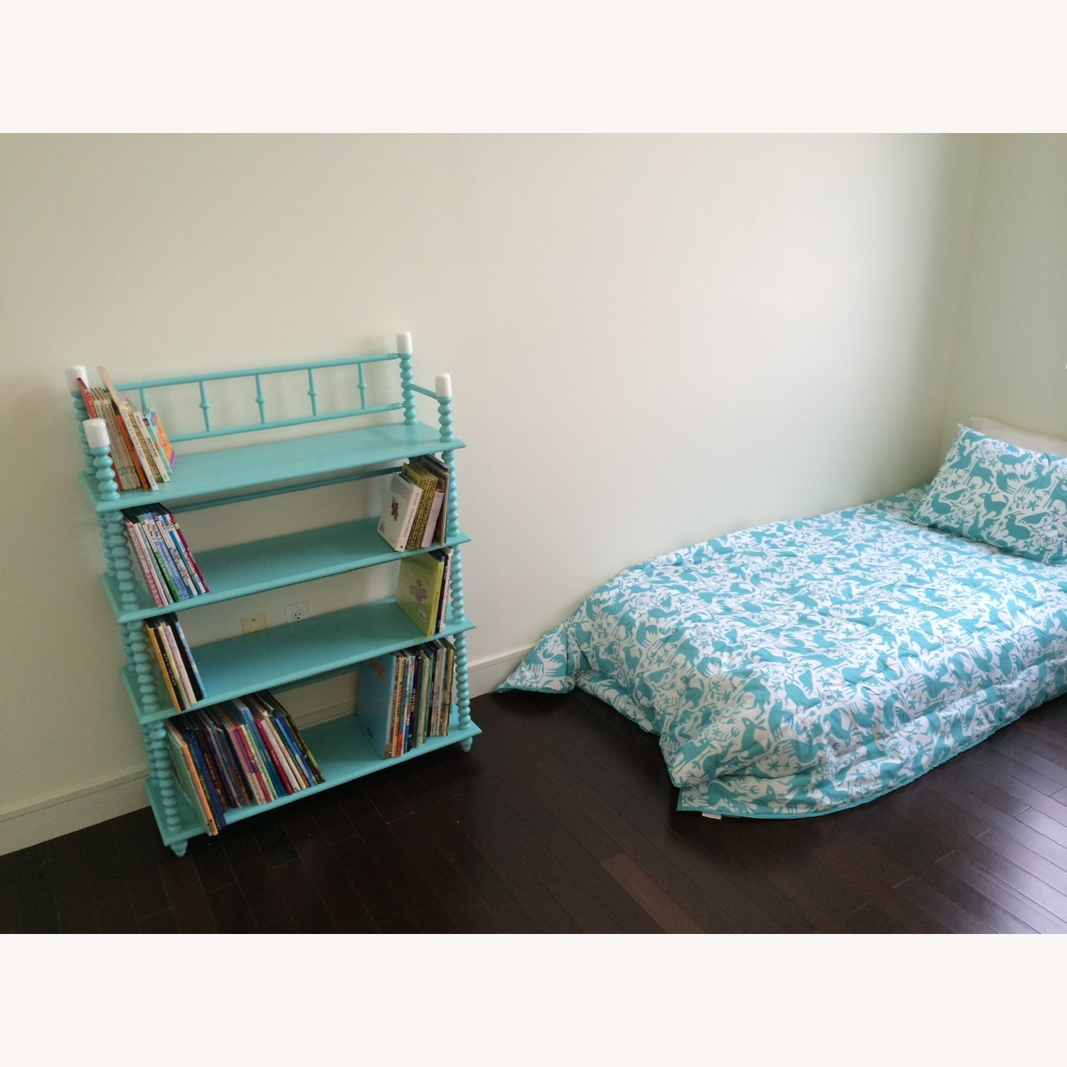 Crate & Kids Turquoise Bookcase - image-2