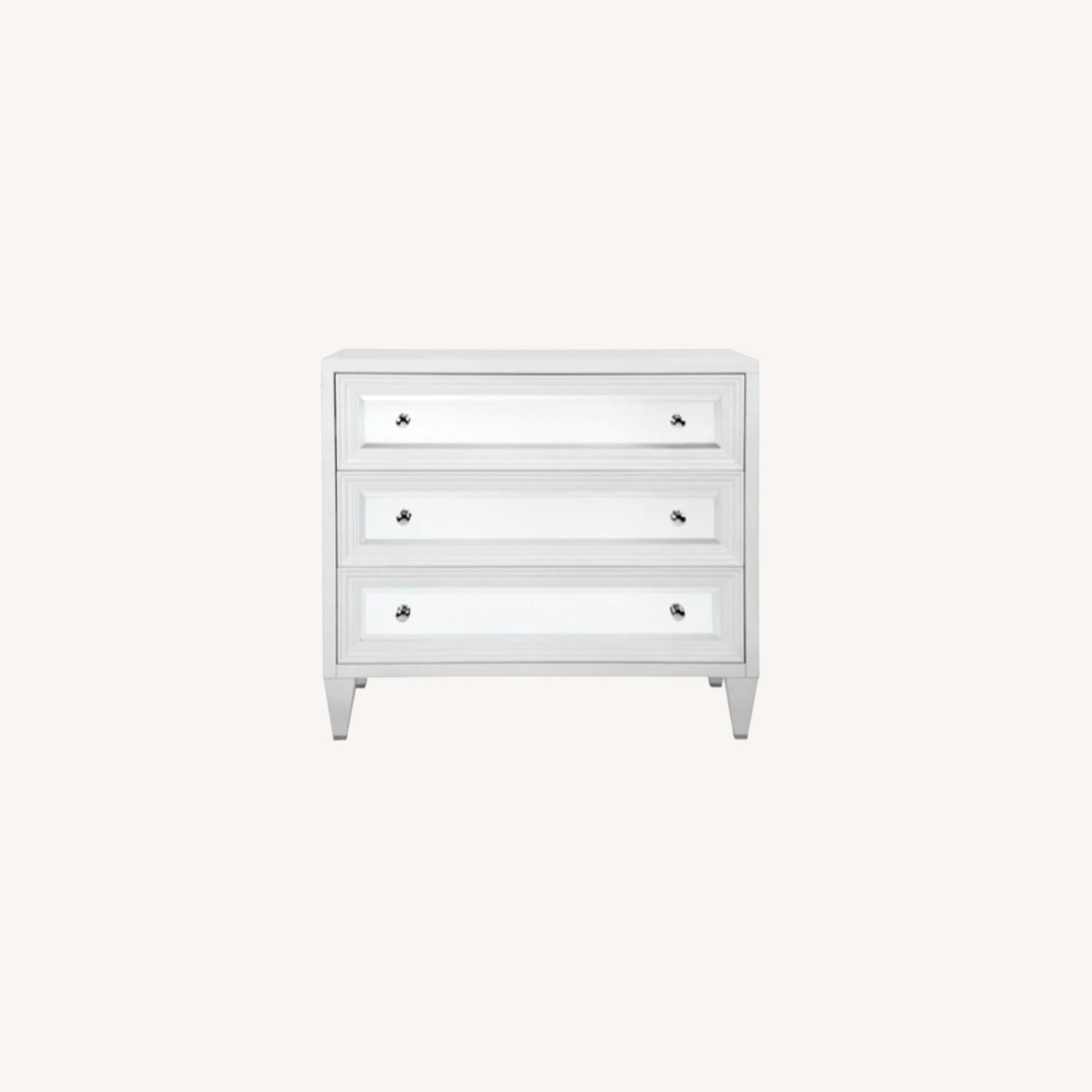 White and Mirrored 3 Drawer Chest - image-0