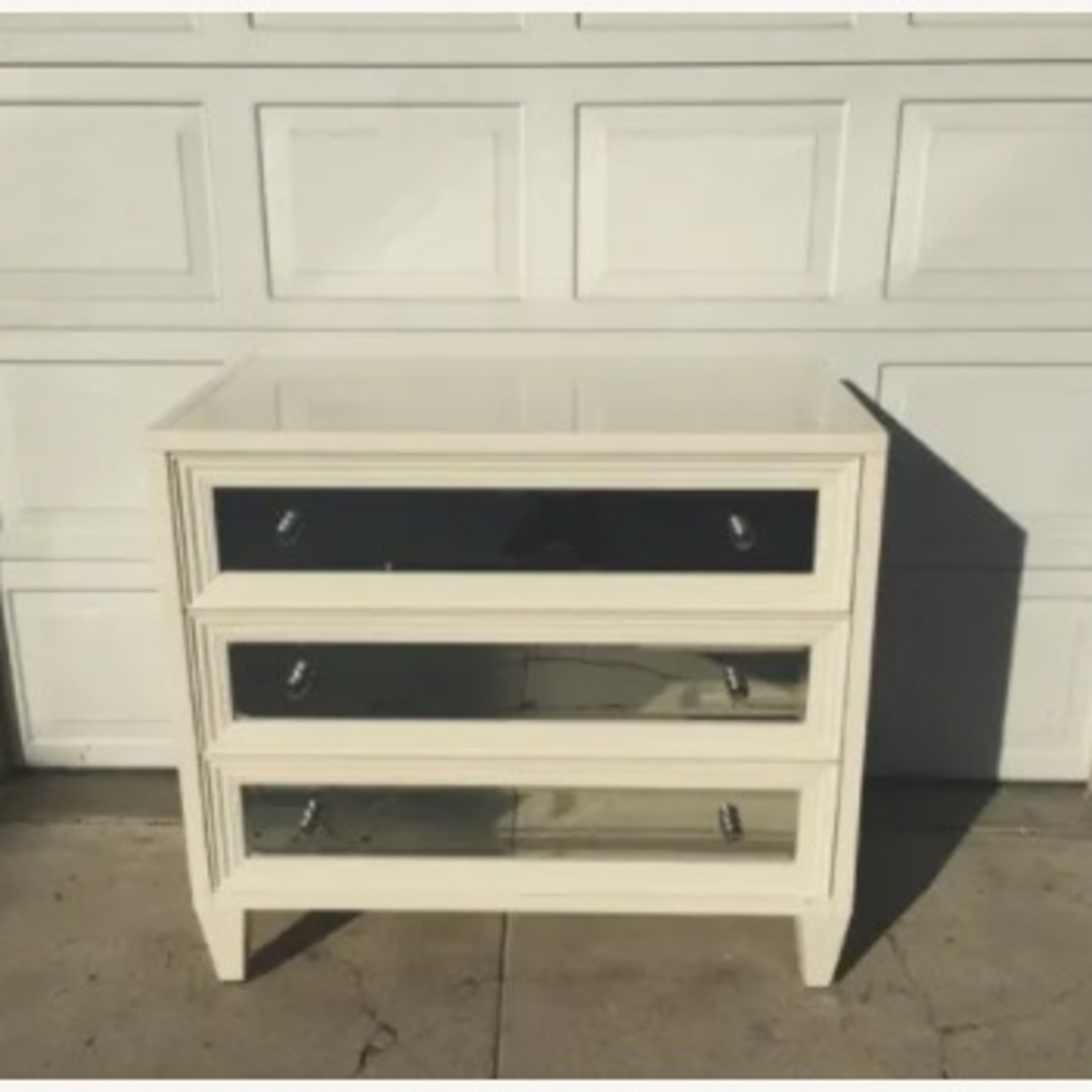 White and Mirrored 3 Drawer Chest - image-3
