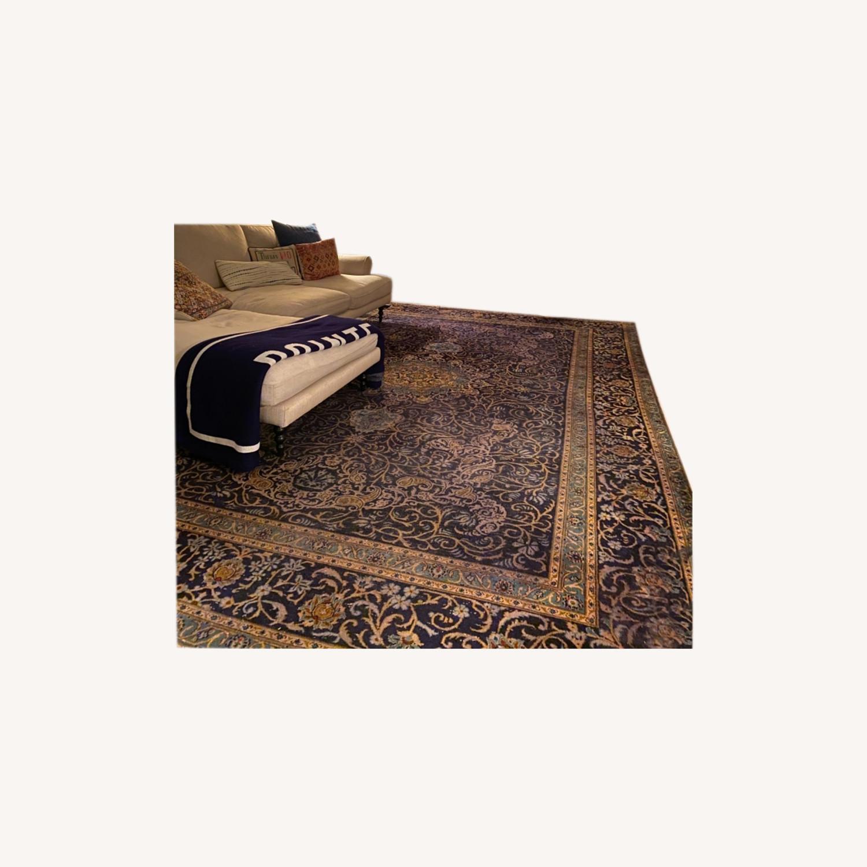 86 x 124 Antique Handmade Wool Persian Rug - image-0