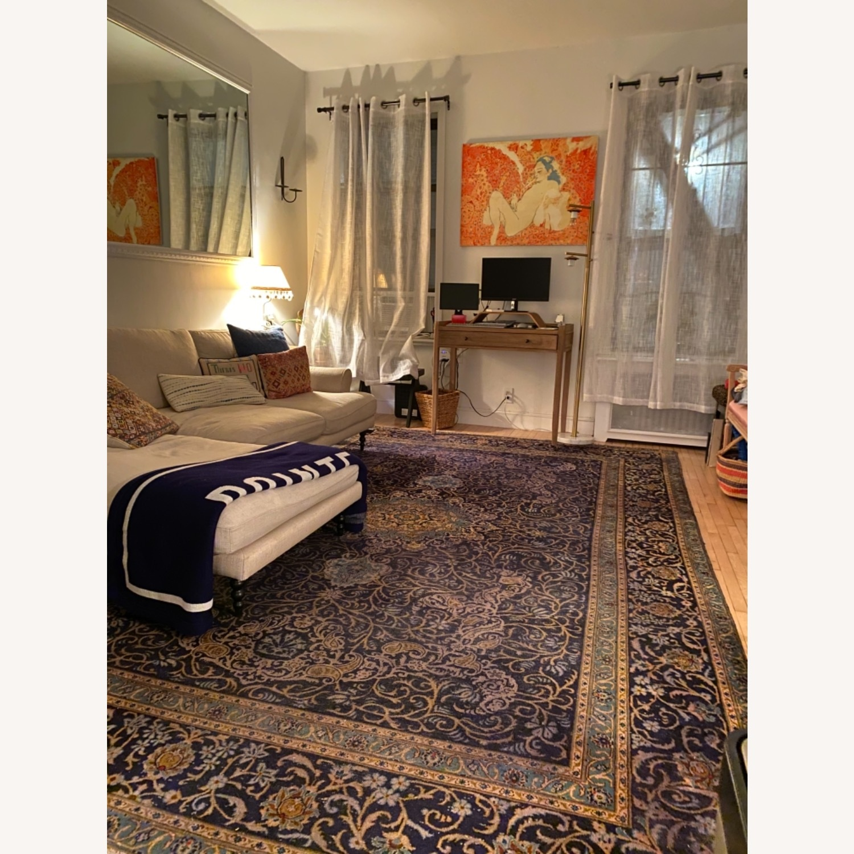 86 x 124 Antique Handmade Wool Persian Rug - image-4