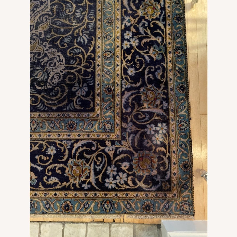 86 x 124 Antique Handmade Wool Persian Rug - image-3